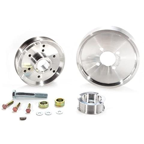 BBK 1559 Underdrive Pulley Kit for Ford Mustang 4.6/ GT - 3 Piece Lightweight CNC Machined Aluminum Kit by BBK Performance