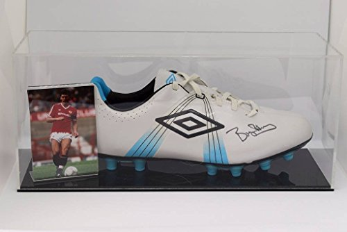 Sportagraphs Bryan Robson Signed Autograph Football Boot Display Case Manchester United COA