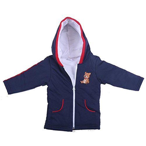 Brim Hugs And Cuddles Bule Sweater For Baby Girls/Baby boys With Hood and Zipper