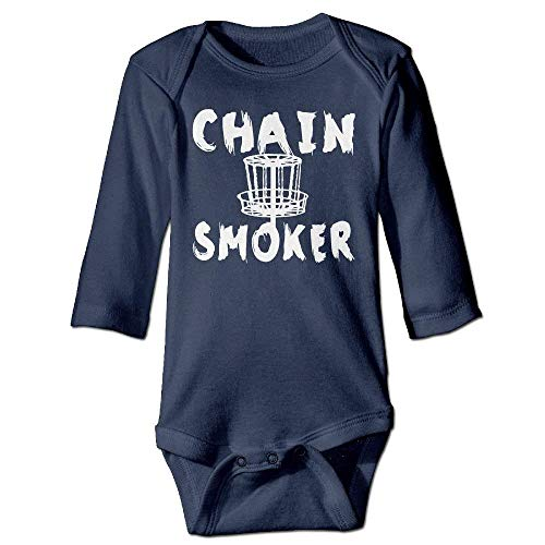 VTXWL Unisex Toddler Bodysuits Chain Smoker Girls Babysuit Long Sleeve Jumpsuit Sunsuit Outfit Navy