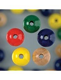 EFCO 4 mm 150 piezas Cuentas de madera agujeros, varios colores
