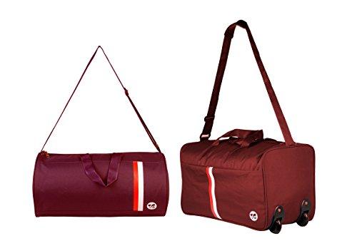 3G Strolley Handbag bag combo maroon