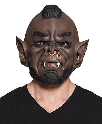 shoperama Latex-Maske Kannibale Karneval Fasching Halloween Monster Herren Horror