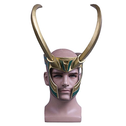Thor 3 Götter Dämmerung Cosplay Loki Loki Helm Halloween Maske Helm Fernsehen,RockyHelmet-OneSize