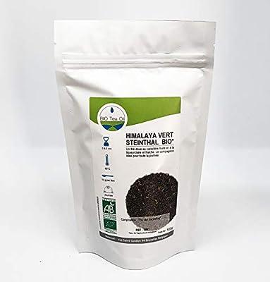 Himalaya Vert Steinthal Bio Vert Darjeeling - Thé vert Biologique - Inde - 100Gr - Haute qualité - Himalaya