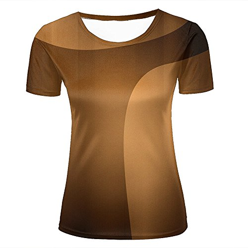 qianyishop Womens Casual Design 3D Printed Fantastic Brown Arc Graphic Short Sleeve Couple T-Shirts Top Tee XS (Butterfly Peeling Top)