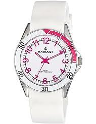 Radiant RA168601 - Reloj con correa de resina para niños, color blanco / gris