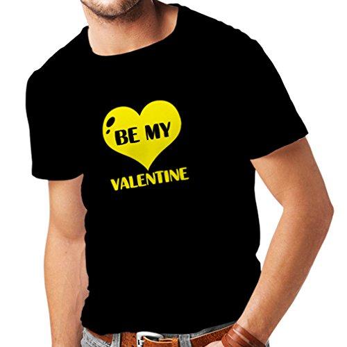 Männer T-Shirt Sei mein Valentinsschatz, Zitate und Sprüche über Liebe super Geschenk (XXXXX-Large Schwarz (Minute Jungs Für Besten Die Last Kostüme)