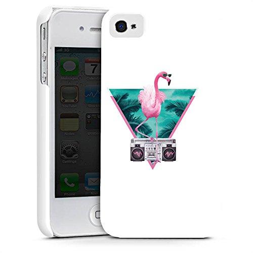 Apple iPhone X Silikon Hülle Case Schutzhülle Flamingo Dreieck Disco Premium Case glänzend
