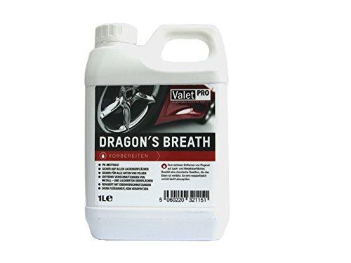 1 Stück ValetPRO Dragon's Breath Felgenreiniger 1L / sicher für Felgenoberflächen / entfernt Bremsstaub und andere Verschmutzungen / pflege / Felgenpflege / reinigung / Kanister / 500 ml / Reinigungsleistung / Whell Cleaner / detaillierung / ValetPro / Made in England / detailing / Rims / alloy / restoration / Spezialreiniger / Felgen Kosmetik /