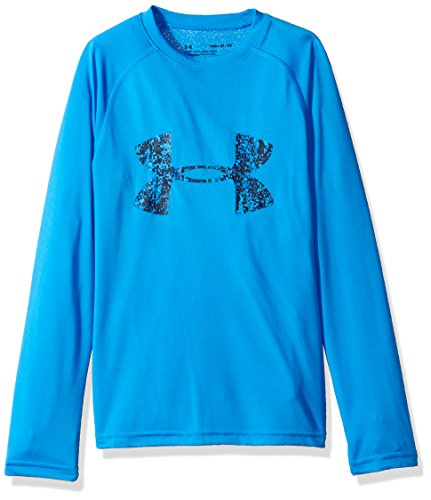 Under Armour Jungen Big Logo LS T Langarmshirt, Mako Blue, M