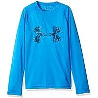 Under Armour Camiseta de Manga Larga con Logotipo Grande para Chicos, Niños, Big Logo LS T, Mako Blue