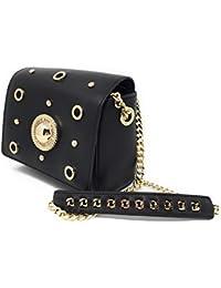 Versace - Bolso de asas para mujer Negro negro 18X716cm