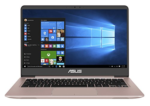 Asus Zenbook UX3410UQ-GV999T 35,56 cm (14 Zoll mattes FHD) Notebook (Intel Core i5-7200U, 8GB RAM, 256GB SSD, 1TB HDD, NVIDIA GeForce 940MX, Win10 Home) rose gold