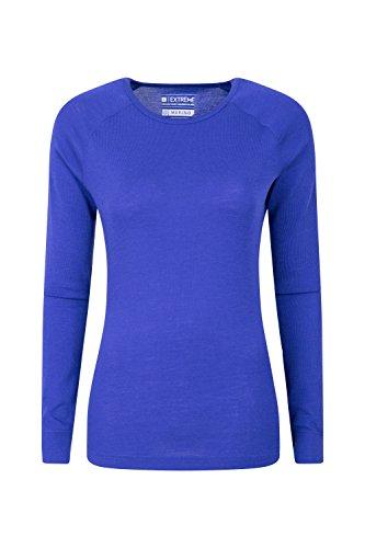 Layer Long Johns (Mountain Warehouse Merino Baselayer-Thermotop für Damen - Leichtes, atmungsaktives Damen-T-Shirt, antibakterielle Bluse - Für Urlaub bei kaltem Wetter Winter Baselayer Violett DE 44 (EU 46))