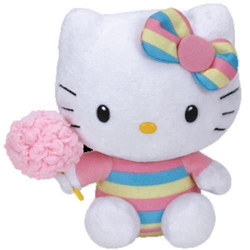 Hello Kitty - Cotton Candy Plush - TY Beanie - 14.5cm 6""
