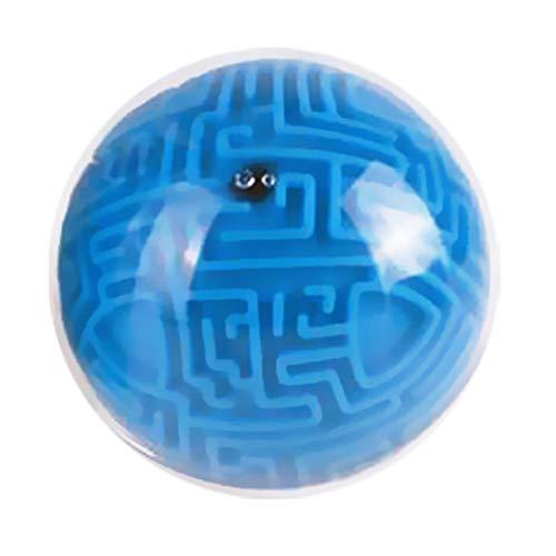 SEGRJ Mini 3D Magisches Labyrinth Puzzle Ball Labyrinth Gehirn Teaser Spiel Kinder Lernspielzeug, blau