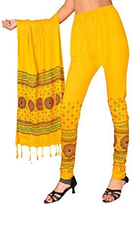 Snija Fashion Women\'s Legging (Prdl2108Y_Yellow_X-Large)