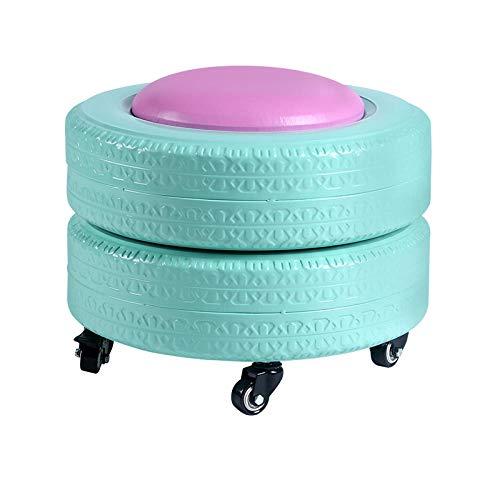 Velliceasay Otomana Modern,Dormitorio,Salón-Mesa Sofá,Taburete de Almacenamiento Taburete neumático Color Taburete hogar Simple Taburete Infantil,Verde Menta