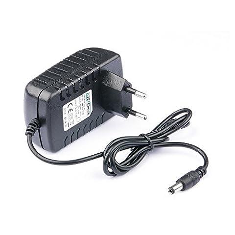 9 Volt Netzteil / Ladegerät / Steckernetzteil bis zu 2000mA 2A mit 5,5 mm x 2.1 mm Klinkenhohlstecker passend für viele Geräte wie Router , Accsesspoints , Player , Rekorder ...