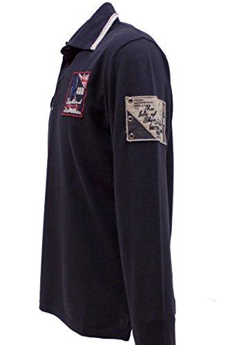 Kitaro -  Maglia a manica lunga  - Maniche lunghe - Uomo blu navy