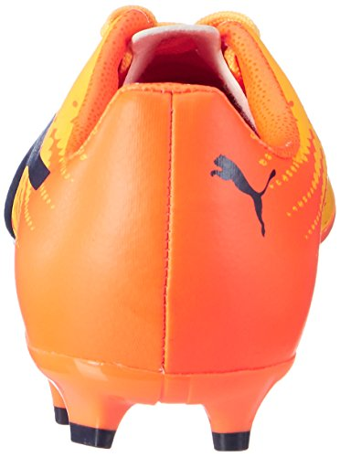 Puma Unisex-Kinder Evospeed 17.4 Fg Jr Fußballschuhe Gelb (ultra yellow-peacoat-orange clown fish 03)