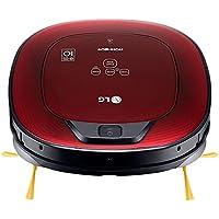 LG Electronics VR8602RR.ARDQEEU Robot Aspirador, Casas con niños y alfombras, 35 W, 0.6 litros, 60 Decibeles, Rojo Brillante 3D