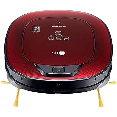 LG Electronics Hombot Turbo Serie 8 - Robot aspirador, casas con alfombras, color rojo brillante 3D