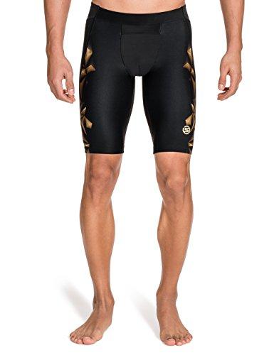 Skins - Culotte para hombre, talla S (Talla del fabricante : S), color negro/dorado