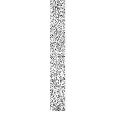 Band Schleifenband m. Glitter 2 cm x 2 m silber - Dekoband Glitterband Serviettenring - 4138 (Serviettenringe Und Schwarz Silber)