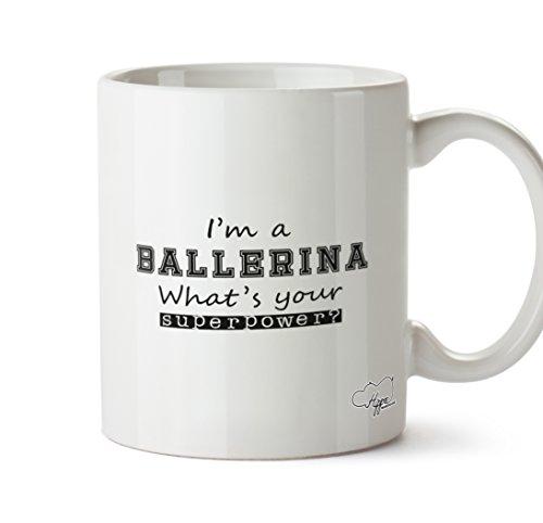 hippowarehouse I 'm a Ballerina Was ist Ihre Supermacht? 283,5Tasse, keramik, weiß, One Size (10oz) Grapevine Geschirr