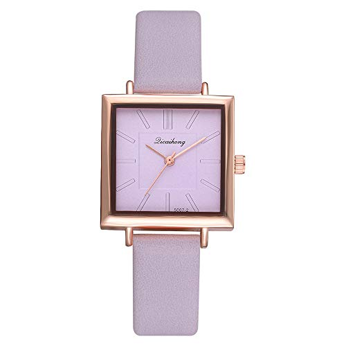 Suitray Damen Armbanduhr, Frauen Uhren Analoge Quarzuhr Beiläufig Uhr Geschenk,Quadratisch Zifferblattgehäuse Lederband Uhren