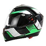 Herren Bluetooth Motorrad Motorrad Helm Frauen Antifogging Doppel-Objektiv Flip Up Moto Motocross Helme XXL
