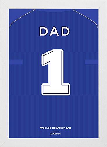 Día del padre marco Leicester impresión enmarcada–Allington, tamaño A4(11,75x 8.25-inches),...
