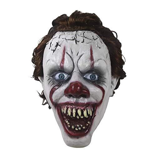 Horror Overhead Clown Maske - Halloween Maske - Cosplay Kostüm Maske - Party Rave Maske - Erwachsene Und Kinder (Horror Clown Kostüm Geschichte)