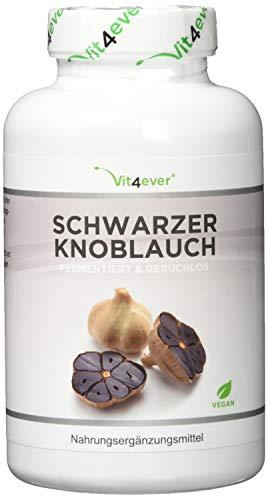 Vit4ever® Schwarzer Knoblauch 15:1 Extrakt - 180 Kapseln mit 750 mg - 6 Monatsvorrat - Laborgeprüfte Qualität & Reinheit - Fermentiert & Geruchslos - Hochdosiert - Vegan