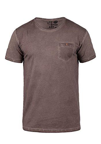 !Solid Teil Herren T-Shirt Kurzarm Shirt mit Rundhalsausschnitt aus 100{c5c538108d4087761da41b7d27b8e33c3ad9ee8e3a6048ef5a832cf9d2933ad7} Baumwolle, Größe:M, Farbe:Coffee Bean (5973)