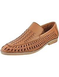 Mochi Men Leather Flat Shoes (19-4335)