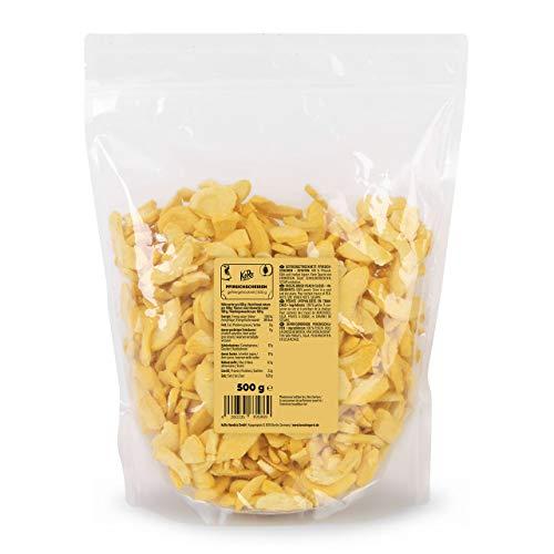 KoRo - Gefriergetrocknete Pfirsichscheiben 500 g - Schonend getrocknete Trockenfrüchte, rein pflanzlich und vegan