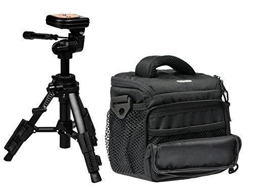 Foto Kamera Tasche Action M Set mit Stativ Carat TPA-03 für Nikon Coolpix L340 L330 L840 L840 P610