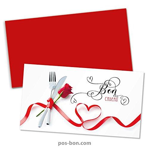 50 Bons cadeaux + 50 enveloppes pour restaurants, bistrots, gastronomie G12021F