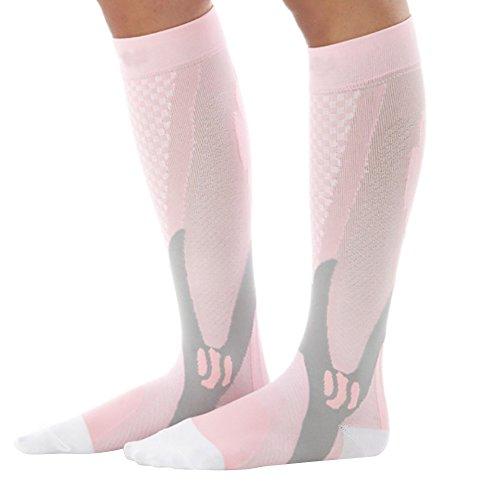 MORESAVE Gamba di sostegno Stretch magici Compression Socks Sport Performance Esecuzione (Nylon Mens Sneakers)