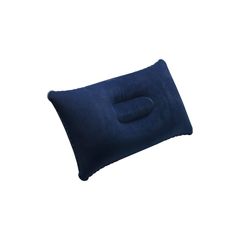 TRIXES Inflatable Pillow For Travel or Camping – Blow up Pillow – Blue Twin Pack