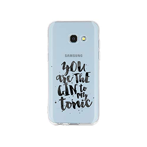 licaso Samsung A3 Handyhülle Smartphone Samsung Case aus TPU mit You Are The Gin to My Tonic Love Print Motiv Slim Design Transparent Cover Schutz Hülle Protector Soft Aufdruck Lustig Funny Druck
