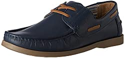 United Colors of Benetton Mens Blue (902) Leather Boat Shoes - 9.5 UK