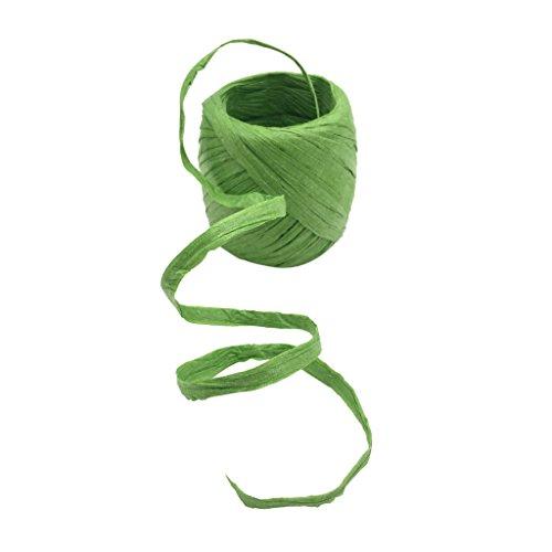 Homyl 20m Naturbast Raffiabast Bast Bindebast Papierschnur Geschenkpapier Bänder Papierkordel zum basteln dekorieren - Grün