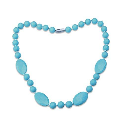 Aooaz Baby Beiß Kette Kauen Kette Kragen Kette für Mama Kette Chewelry Lebensmittel Silikon Geometrie Blau Kette 80cm