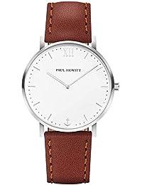 Paul Hewitt Reloj analogico para Unisex de Cuarzo con Correa en Piel PH-SA-
