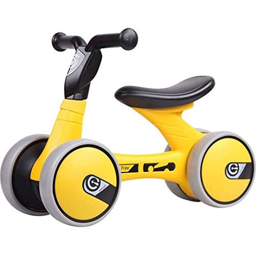 I will take action now Balance Bike Gelb - Balance Bikes für 1-Jährige, Kinder Balance Car 1-3 Jahre alt Walker Fahrrad Yo-Yo Rutsch-Schritt Spielzeugauto ohne Pedal I will take action now