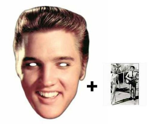 1bc2ad78 *Mask Pack* Elvis Presley Face Mask - Includes 6X4 (15X10Cm) Star Photo - Mask  Pack